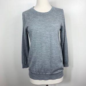 {J Crew} Gray Merino Wool Pullover Sweater NWT